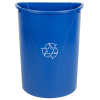 Carlisle 343021REC14 Centurian 21 Gallon Blue Half Round Wallhugger Recycling Trash Can