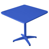 BFM Seating MSB3636BY Beachcomber 36 inch Square Berry Aluminum Outdoor Table