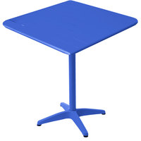 BFM Seating MSB3232BYT Beachcomber 32 inch Square Berry Aluminum Outdoor Bar Height Table