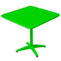 BFM Seating MSB3232LM Beachcomber 32 inch Square Lime Aluminum Outdoor Table