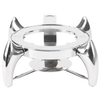 Choice Supreme 6 Qt. Round Induction Chafer Stand with Fuel Holder