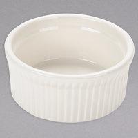 Tuxton BEX-1002 DuraTux 10 oz. Ivory (American White) Fluted China Souffle / Ramekin - 12/Case
