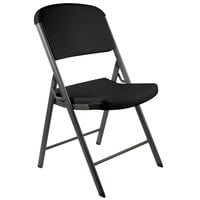 Lifetime 80187 Black Contoured Folding Chair - 4/Pack