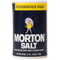 Morton 26 oz. Plain Table Salt Rounds - 24/Case