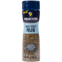 Morton 3.9 oz. Cracked Peppercorn and Herb Sea Salt Rub   - 6/Case