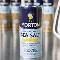 Morton 4.4 oz. Mediterranean Fine Sea Salt - 12/Case