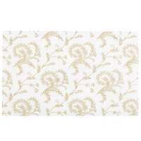 6 7/8 inch x 4 1/4 inch White 1/2 lb. 3-Ply Glassine Candy Box Pad with Ivory Pattern - 250/Case
