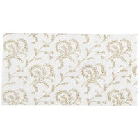 7 1/2 inch x 3 7/8 inch White 1/2 lb. 3-Ply Glassine Candy Box Pad with Ivory Pattern - 250/Case
