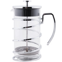 World Tableware 73592 34 oz. / 4 Cup Stainless Steel French Press