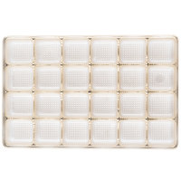 9 5/16 inch x 6 inch x 3/4 inch Gold 24-Cavity Candy Tray - 250/Case