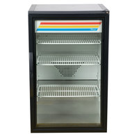 True GDM-07-HC~TSL01 Black Countertop Display Refrigerator with Swing Door