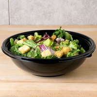 Sabert 93064A50 FreshPack 64 oz. Black Round Shallow Bowl - 50/Case