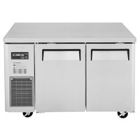 Turbo Air JUR-48 J Series 48 inch Solid Door Undercounter Refrigerator with Side Mounted Compressor