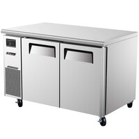 Turbo Air JUR-48 J Series 48 inch Undercounter Refrigerator with Side Mounted Compressor - 11 Cu. Ft.