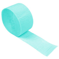 Creative Converting 324777 81' Teal Lagoon Streamer Paper - 12/Case