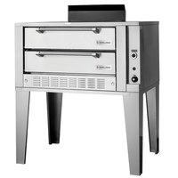 Garland G2072 Liquid Propane 55 1/4 inch Double Deck Gas Pizza Oven - 80,000 BTU