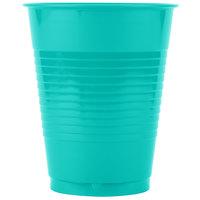 Creative Converting 324775 16 oz. Teal Lagoon Plastic Cup - 240/Case