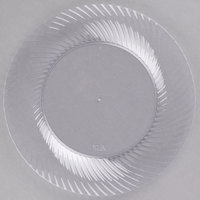 Visions Wave 7 inch Clear Plastic Plate - 18/Pack