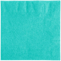 Creative Converting 324767 2-Ply Teal Lagoon Beverage Napkin - 600/Case