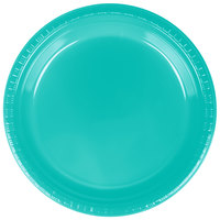 Creative Converting 324779 9 inch Teal Lagoon Plastic Plate - 240/Case