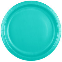 Creative Converting 324782 10 inch Teal Lagoon Paper Plate - 240/Case