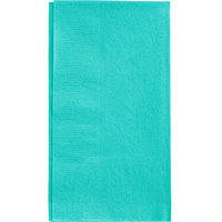 Teal Lagoon Dinner Napkin, 2-Ply 1/8 Fold - Creative Converting 324790 - 600/Case