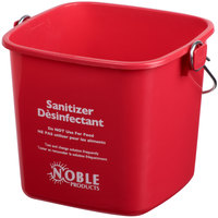Noble Products 3 Qt. Red Sanitizing Pail