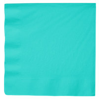 Teal Lagoon Dinner Napkin, 3-Ply 1/4 Fold - Creative Converting 324769 - 250/Case