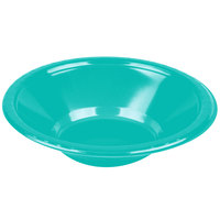 Creative Converting 324794 12 oz. Teal Lagoon Plastic Bowl   - 240/Case