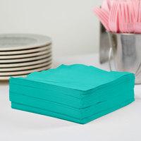 Creative Converting 324771 3-Ply Teal Lagoon 1/4 Fold Luncheon Napkin   - 500/Case