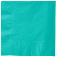 Creative Converting 324771 3-Ply Teal Lagoon 1/4 Fold Luncheon Napkin   - 500/Case