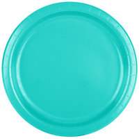 Creative Converting 324772 9 inch Teal Lagoon Paper Plate - 240/Case