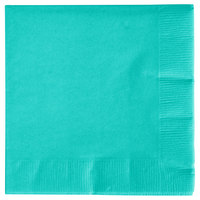 Creative Converting 324776 3-Ply Teal Lagoon Beverage Napkin - 500/Case