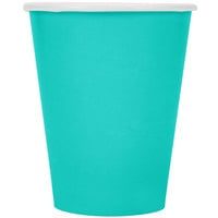 Creative Converting 324783 9 oz. Teal Lagoon Poly Paper Hot / Cold Cup - 240/Case