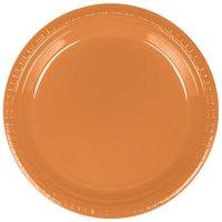 Creative Converting 324810 9 inch Pumpkin Spice Plastic Plate - 20/Pack