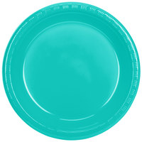 Creative Converting 324778 10 inch Teal Lagoon Plastic Plate - 20/Pack