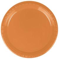 Creative Converting 324811 7 inch Pumpkin Spice Plastic Plate - 240/Case