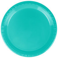 Creative Converting 324793 7 inch Teal Lagoon Plastic Plate - 20/Pack