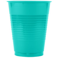 Creative Converting 324775 16 oz. Teal Lagoon Plastic Cup - 20/Pack