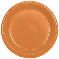 Creative Converting 324809 10 inch Pumpkin Spice Plastic Plate - 240/Case