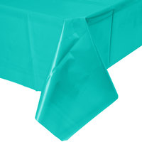 Creative Converting 324789 54 inch x 108 inch Teal Lagoon Plastic Table Cover