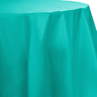 Creative Converting 324765 82 inch Teal Lagoon OctyRound Plastic Table Cover