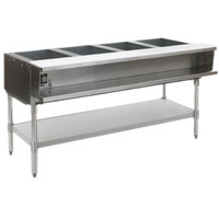 Eagle Group ASWT4 Natural Gas Four Pan Sealed Well Water Bath Steam Table with Stainless Steel Legs