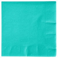 Creative Converting 324776 3-Ply Teal Lagoon Beverage Napkin - 50/Pack