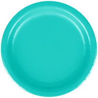 Creative Converting 324766 7 inch Teal Lagoon Paper Plate - 24/Pack