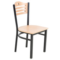 Lancaster Table &amp&#x3b; Seating Natural Finish Bistro Dining Chair