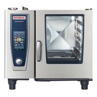 Rational B618206.27E SelfCookingCenter XS Model 61 Natural Gas Single Deck Half Size Combi Oven - 120V, 49,000 BTU