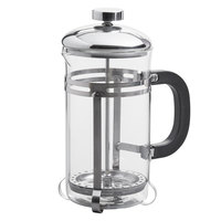 Choice 20 oz. Glass / Stainless Steel French Coffee Press