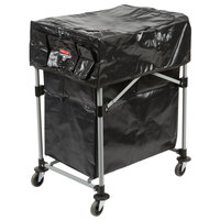 Rubbermaid Laundry Cart, 4 Bushel Deluxe Collapsible X-Cart with Black Cover and Extra 4 Bushel Bag