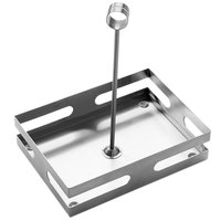 American Metalcraft SCH8 Stainless Steel Rectangular Contemporary Condiment Caddy with Card Holder - 8 inch x 5 3/4 inch x 9 1/2 inch